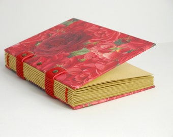 Note pad for the garden, for her, Christmas gift, journal, A6, notebook, vintage, romantic notebook
