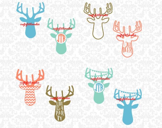 Deer Svg, Deer Monogram svg, Hunting Svg, deer Head Svg, Southern Svg, Southern Svg, Southern Deer Svg, Hunter Svg, Oh Deer Svg, Svg Files