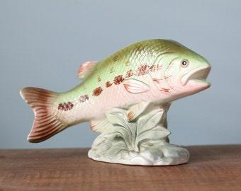 Relpo 6348 Ceramic Fish Planter from the 1950's