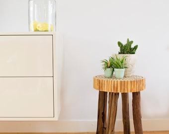 Wood stool / Reclaimed wood / Rustic stool / Counter stool / Kitchen stool / Farmhouse stool / Reclaimed wood stool