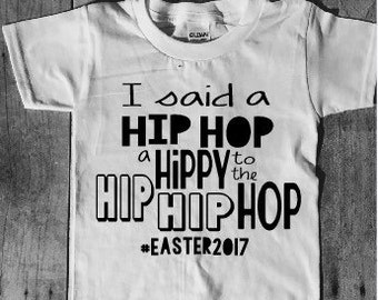 Hip hop easter shirt, fun holiday shirt, childs t-shirt, trendy t-shirt
