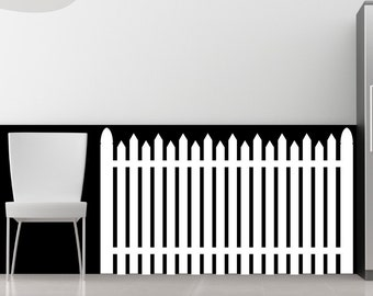 American Dream - White Picket Fence - Vinyl Wall Decal