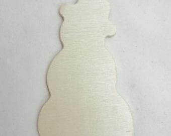 5 Snowman cutouts DIY unfinished