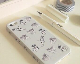 Siberian Husky Case for iPhone X, 8, 8 Plus, 7, 7 Plus, 6, 6s, 6s+ , 6+, 5/5s, SE, 4/4s, Samsung Galaxy S8 Plus, S8, S7, S6, S5,S4