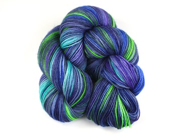 Simone--hand dyed sock yarn, 2ply BFL and nylon, (400yds/100gm)