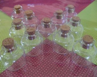 100 10ml Bitty Bottles. 100 Small Glass Bottles With Corks. Glass Bottle Jewelry. Corked Glass Vials. Glass Jars. Small Empty Glass Jars.