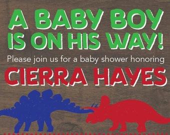 Dinosaur Baby Shower Invite (Digital)