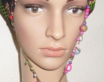 jewel necklace bronze etperles bronze girl flower garden polymer clay