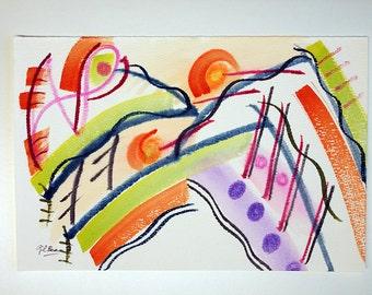 "FREE SHIPPING Watercolor . Original painting 9.7"" x 6.3"" (24x16 cm)"