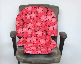 replacement baby chair pad, hot pink and pink Duodiner Graco or Graco Blossom, baby accessory, kids furniture high chair cushion chair pad