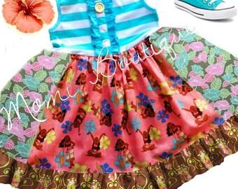 Moana tank dress Moana movie dress Momi boutique custom dress