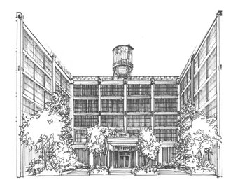 Ink drawing of your home or business -  Custom home portraits - Commissioned artwork from your photos - hand drawn rendering