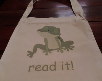 read it! Froggy Tote bag