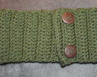 Crochet adjustable headband ear warmer