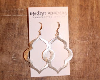 Gold Marquise Earrings | Gold Dangle Earrings, Simple Gold Jewelry, Gold Statement Earrings, Gifts for Her