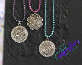 Ball Chain Necklaces, Letter Necklaces