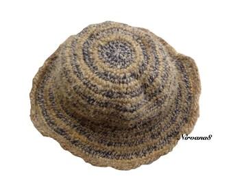 Eco Friendly Bohemain THC Free Hemp & Wool Sun Hat