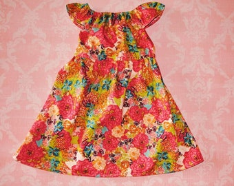 ON SALE! 1920's floral nelle dress, size 12mos.8 girls