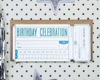 Fill-in Invitation - Birthday Ticket