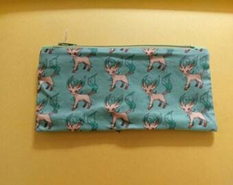 Pokemon Eeveelution Leafeon Zipper Pouch/Pencil Case