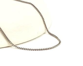Titanium Necklace, No Nickel Necklace for Sensitive Skin, Simple Modern Titanium Curb Chain Necklace, Elegant Pure Titanium Necklace