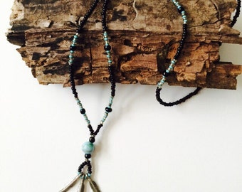 Indian Feather Necklace.