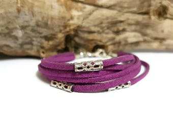 Suede strap filigree beads