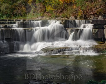 Small Cascade at Taughannock Falls | Landscape Photo Art | Gift | Fine Art Photography | Personalization | BDPhotoShoppe | Home Office Decor