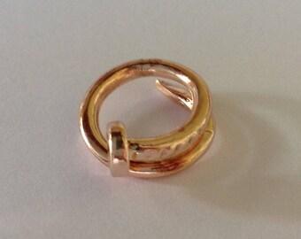 Nail Beard Bead Dread Bead Gold Tone 10mm Hole Spiral Beard Art Baubles