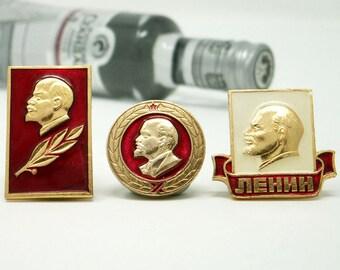 Russian Pins 1970s Vintage Soviet Union Pinback Buttons