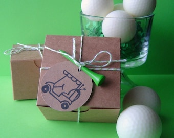 Golf Ball Soap Set  - Goat milk Soap - Scented with Peppermint Essential Oil - Gift Set for Men  - Teen - Boy - Dad - Shaped soap - Dude