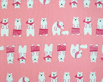 Fabric 100% cotton-pink with teddy bears