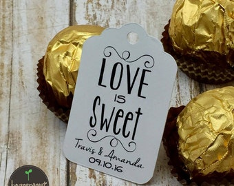Love is Sweet - Wedding Favor Tag - Engagement Party Favor Tag - Bridal Shower Favor Tag - Party Favor Tag - Engagement Party Favor