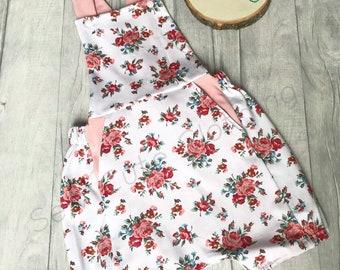 Shorts romper, floral romper, baby romper, kids romper, NB-6years, unique clothing, handmade clothing, long legs, short legged romper
