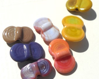 Wing Dings Mix Number 4-  handmade lampwork glass winged beads