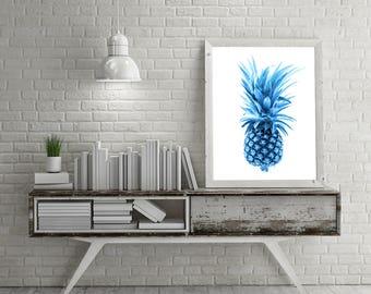 BLUE PINEAPPLE PRINTABLE Canvas