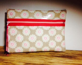 Coated pastel patterned bag