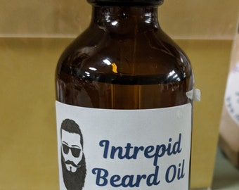 Intrepid For Men Scented Beard Oil / Scented Beard Oil / Beard Conditioner / Beard Repair / Beard Softener / Beard Balm / Beard Tonic