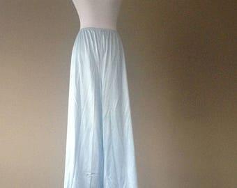 3X /Vanity Fair Blue Nylon Lounge Pants / Vintage / Plus Size Lingerie / XXXL
