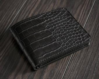 Hand Stitched Alligator Leather Bifold