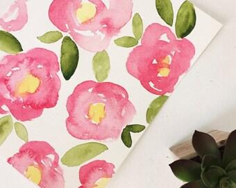 Big Floral Watercolor 8x10