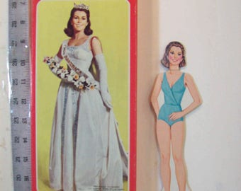 Miss America - vintage paper doll with box Whitman 7410d-20  1980