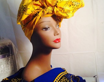 African Fabric Head wrap/ African accessory fabric/ African Fabric/ Accessories/ Head Wrap/ African head Wrap