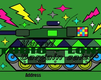 picture cards material.(tank)