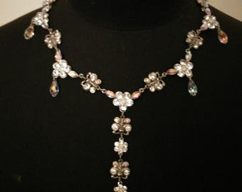 Rhinestones and butterflies necklace