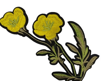 Iron On Embroidered Yellow Flowers Roses Patches Appliques