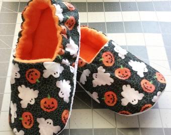 Halloween Baby Shoe,Soft Sole Shoe, Rockabilly,Ghosts,Toddler Slipper,Baby Shoe