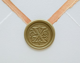 X Letter Wax Seal | Initial Wax Seal Stamp
