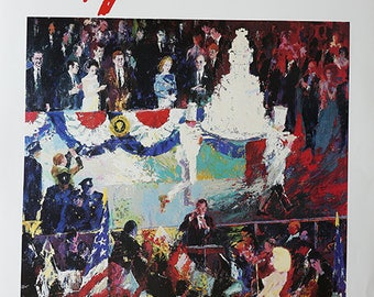 The President's Birthday Party by leRoy Neiman.