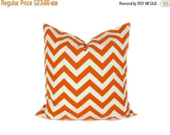 15% Off Sale Decorative Throw Pillows Euro Pillow Cover  Orange Pillow Chevron Pillow 26x26 Pillow Covers Housewares Home Decor Throw Pillow